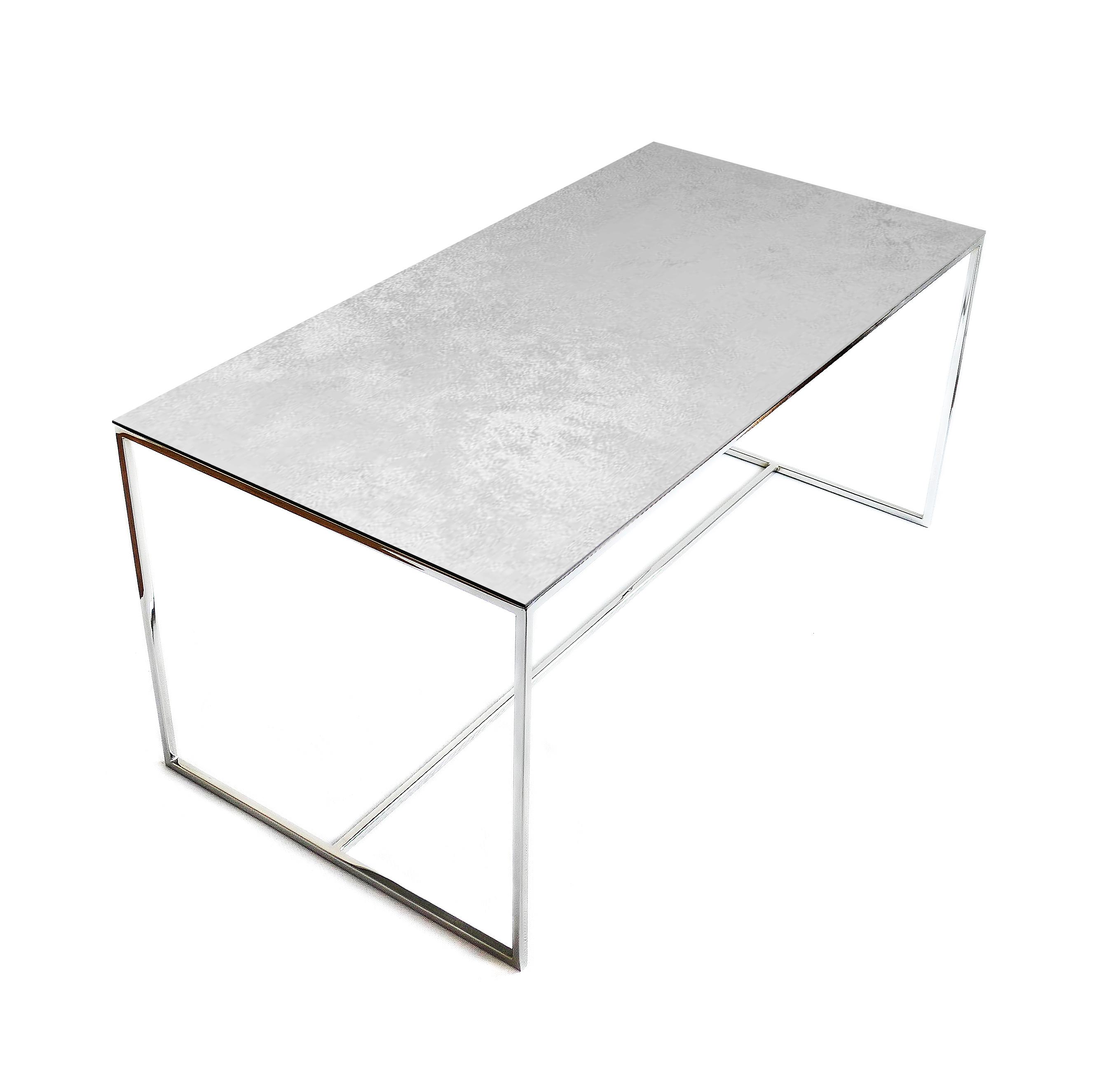 Stolik kawowy REA furniture VULCANO – blat Laminam oxide perla- wymiary 100/50/45