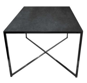 Stolik kawowy ława REA furniture MILANO – blat Laminam blend nero - wymiary 100/100/50