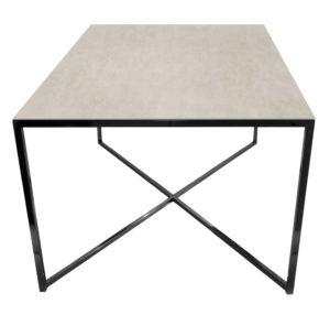 Stolik kawowy ława REA furniture MILANO – blat Laminam fokos sale - wymiary 100/100/50