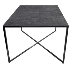 Stolik kawowy ława REA furniture MILANO – blat Laminam naturali pietra di savoia antracite - wymiary 100/100/50