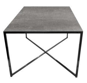Stolik kawowy ława REA furniture MILANO – blat Laminam naturali pietra di savoia grigia - wymiary 100/100/50