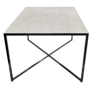 Stolik kawowy ława REA furniture MILANO – blat Laminam naturali pietra di savoia perla - wymiary 100/100/50