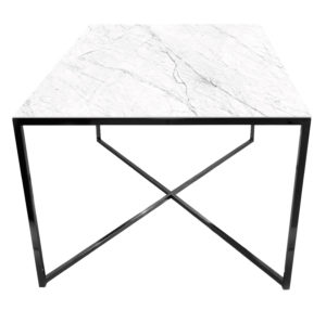 Stolik kawowy ława REA furniture MILANO – blat Laminam naturali statuarietto - wymiary 100/100/50