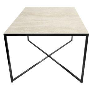 Stolik kawowy ława REA furniture MILANO – blat Laminam naturali travertino navona - wymiary 100/100/50