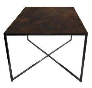Stolik kawowy ława REA furniture MILANO – blat Laminam ossido bruno - wymiary 100/100/50