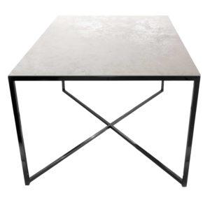 Stolik kawowy ława REA furniture MILANO – blat Laminam oxide bianco - wymiary 100/100/50