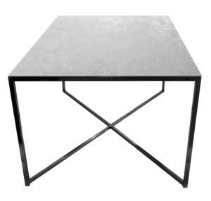 Stolik kawowy ława REA furniture MILANO – blat Laminam oxide perla - wymiary 100/100/50