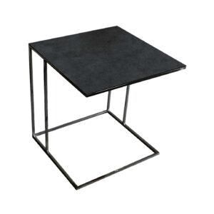 Stolik nadstawka REA furniture LIPARI – blat spiek kwarcowy Laminam blend nero - wymiary 50/50/53