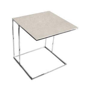 Stolik nadstawka REA furniture LIPARI – blat spiek kwarcowy Laminam fokos sale - wymiary 50/50/53