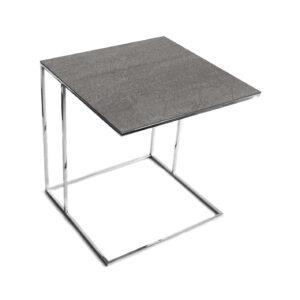 Stolik nadstawka REA furniture LIPARI – blat spiek kwarcowy Laminam naturali pietra di savoia grigia - wymiary 50/50/53