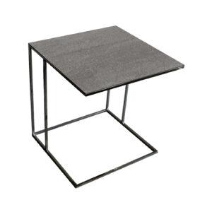 Stolik nadstawka REA furniture LIPARI – blat spiek kwarcowy Laminam naturali pieta di savoia grigia - wymiary 50/50/53
