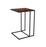 nadstawka PROCIDA spiek kwarcowy stolik stal rea laminam 40x50x60 OXIDE MORO czarny mat